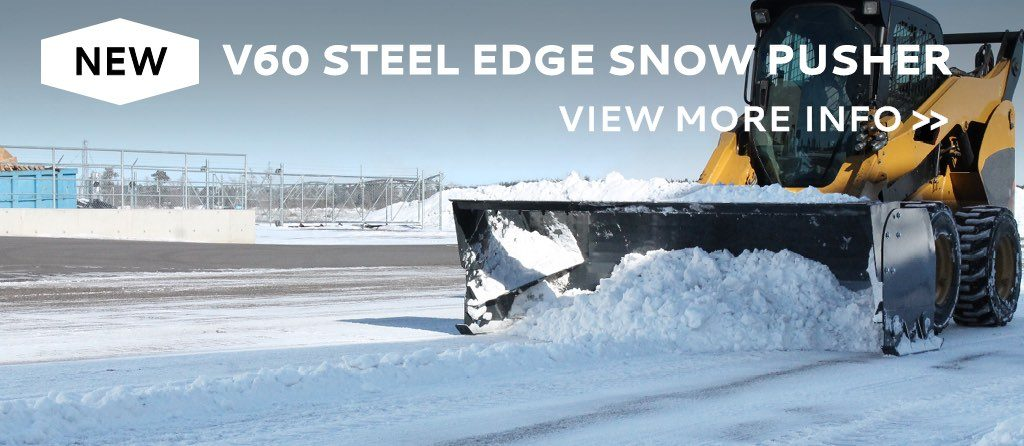skidsteer snow pusher attachment