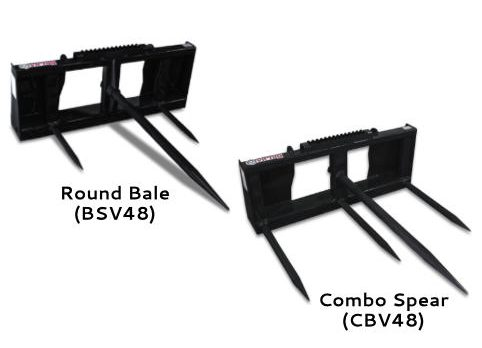 Virnig Hay Bale Spear Attachments Forged