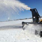 Virnig-Snow-Blower-Skid-Steer-Attachment-Action