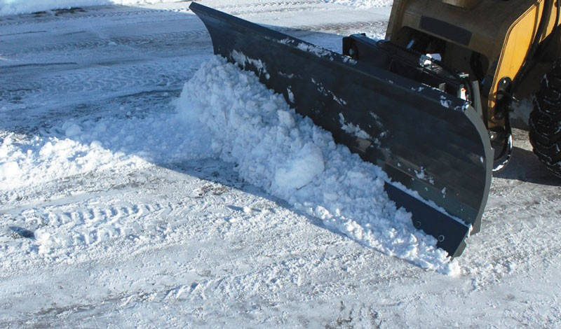 angle snow blade skid steer snow plow attachment in action virnig. Black Bedroom Furniture Sets. Home Design Ideas