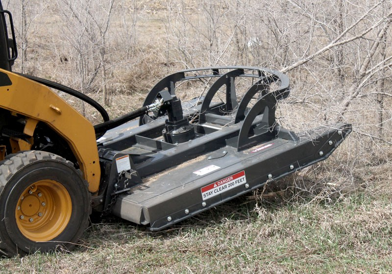 V60 Industrial Rotary Cutter Skid Steer Attachment