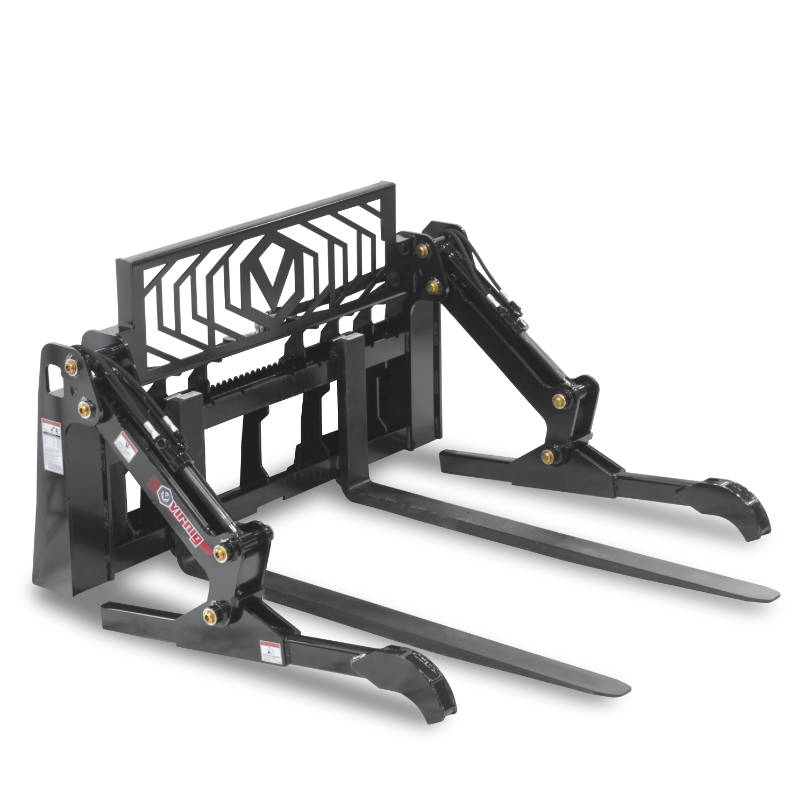 Virnig Pipe Pallet Fork Grapple Attachment Closed