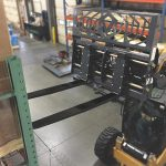 Hydraulic-adjust-pallet-fork-action